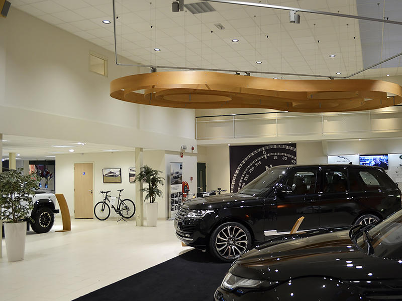 LED Lighting Used In Netherland RANGE ROVER shop